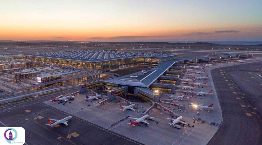 فرودگاه جدید استانبول یکی از بزرگترین فرودگاههای جهان❤️⭐️