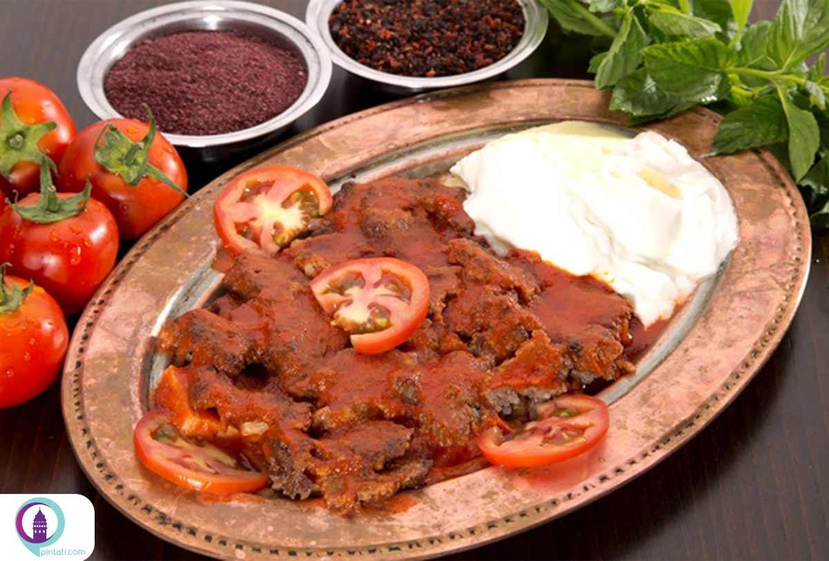اسکندر کباب از غذاهای ترکی