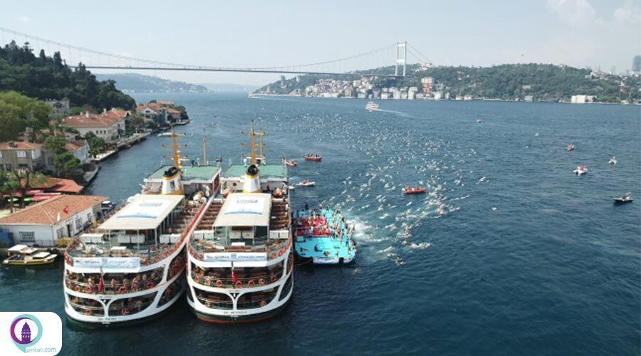مسابقه شنای بین قارهای استانبول