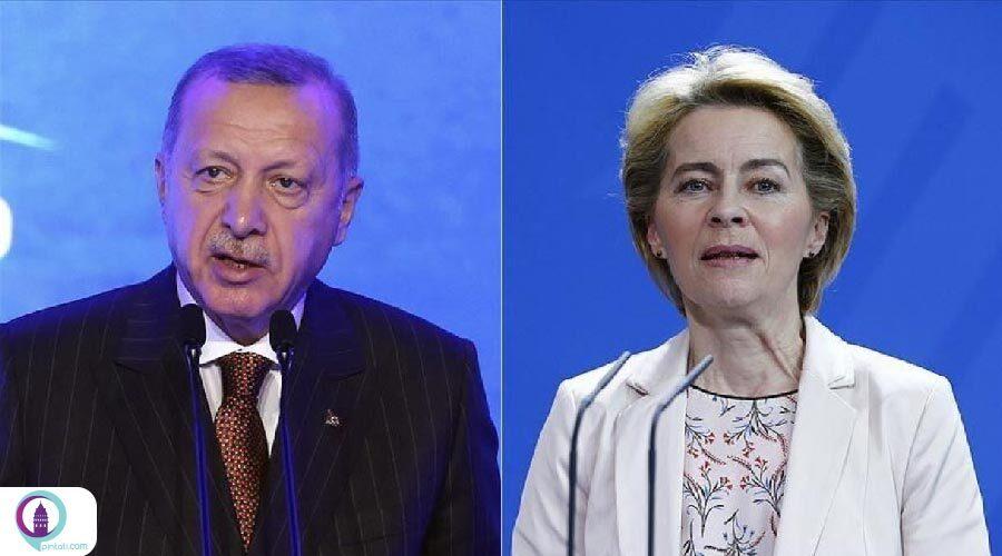 رجب طیب اردوغان با رئیس کمیسیون اتحادیه اروپا تلفنی گفتگو کرد