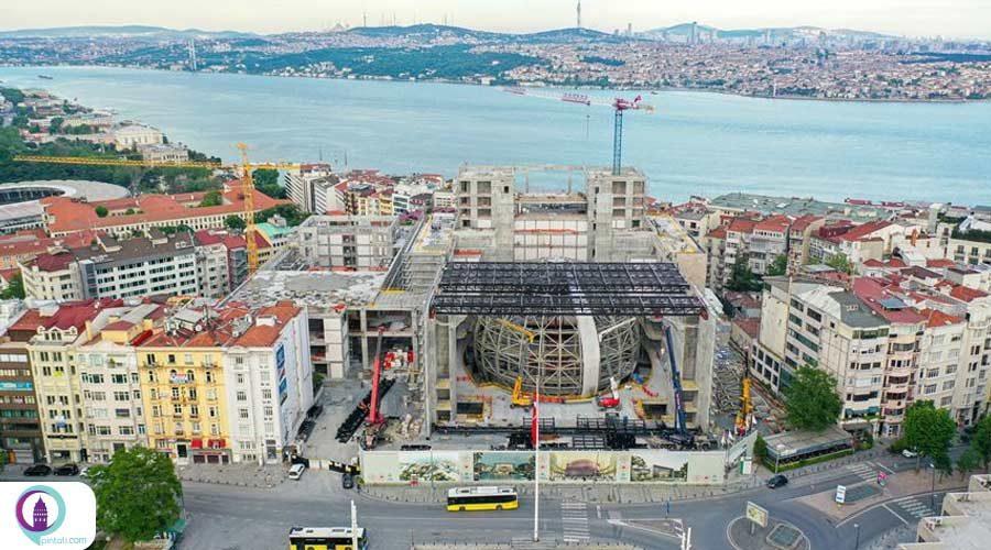 مراحل پایانی ساخت مرکز فرهنگی آتاتورک