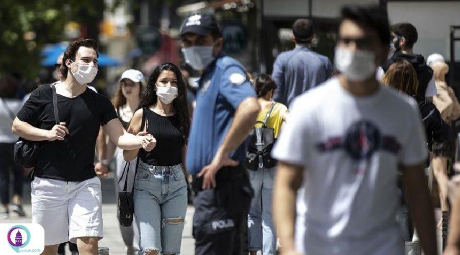 جریمه ۹۰۰ لیر برای استفاده نکردن از ماسک در ترکیه
