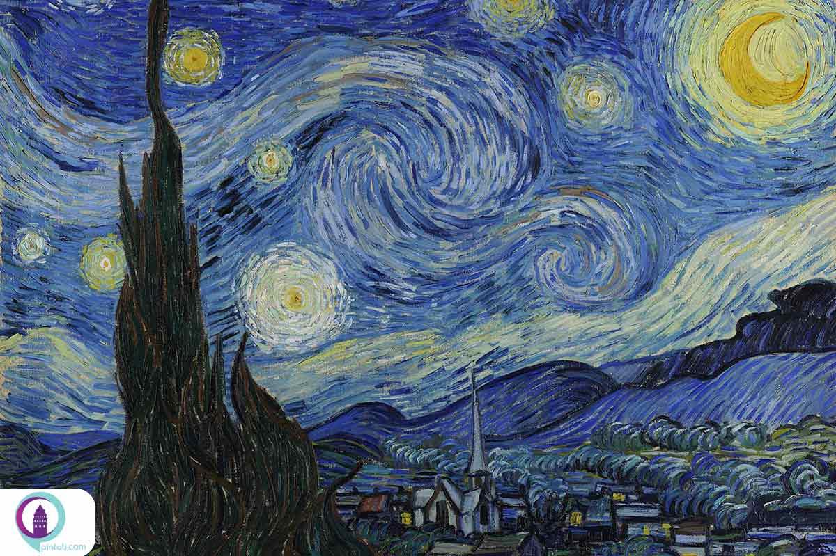 تابلوی شب پر ستاره