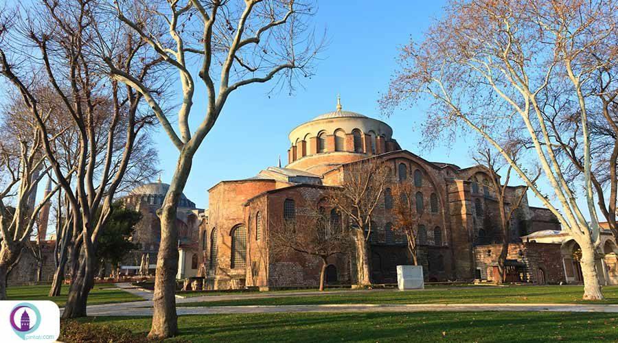 کلیسای ایا ایرنه ترکیبی از صلح و نقاشی و معماری