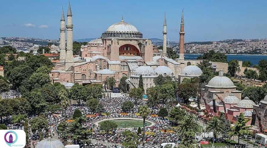 بازگشایی مسجد کبیر ایاصوفیه
