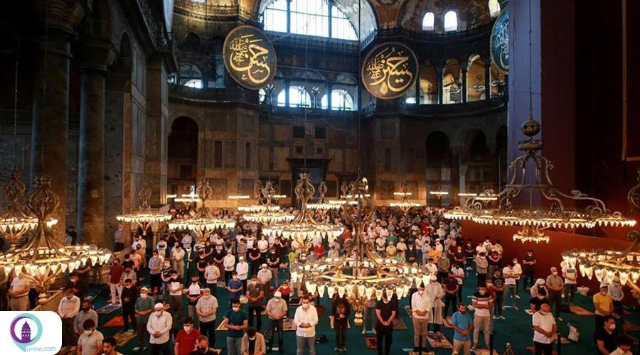 پس از 86 سال نخستین نماز عید در مسجد ایاصوفیه