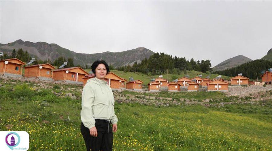 ساخت دهکده توریستی، توسط خانمی در ترکیه