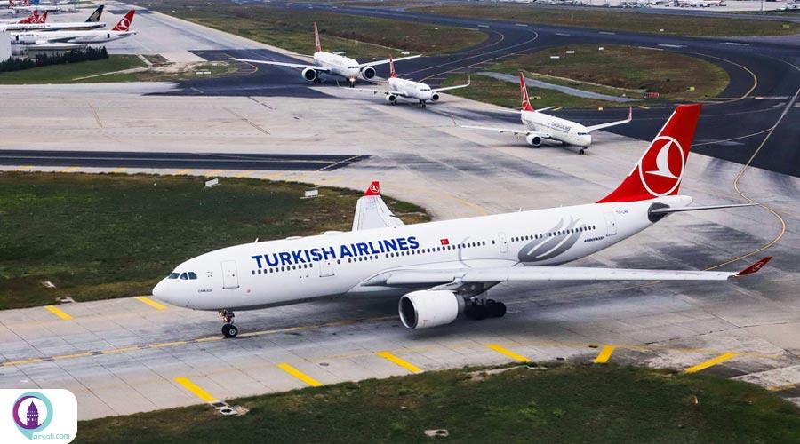 پروازهای ترکیش ایرلاینز به ایران