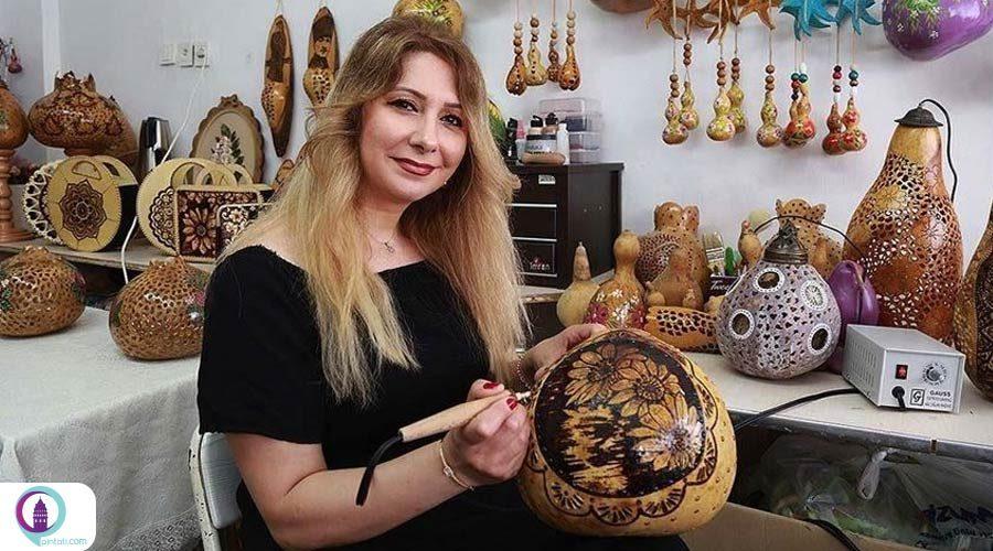 هنرمند ترکی آثار هنری با کدو قلیانی خلق کرد