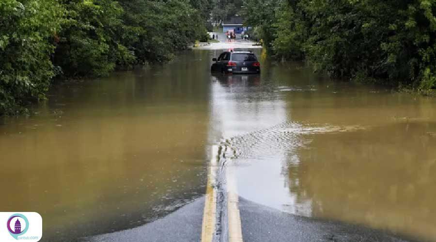 نجات 127 تن از شهروندان گرفتار در سیل گیرسون