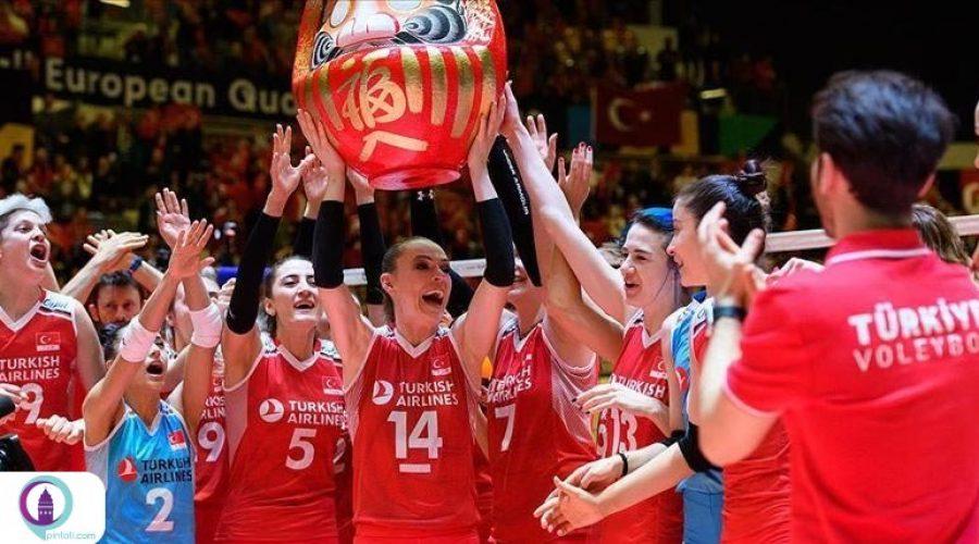 تیم ملی والیبال بانوان ترکیه به مرحله نهایی مسابقات قهرمانی اروپا راه یافت