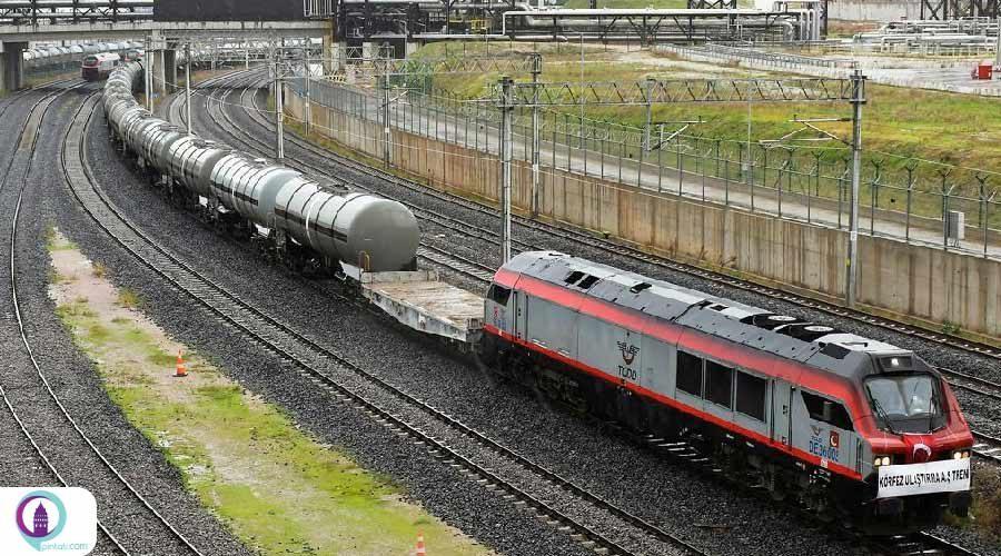 قطار بلوک 1056 متری وارد ترکیه شد
