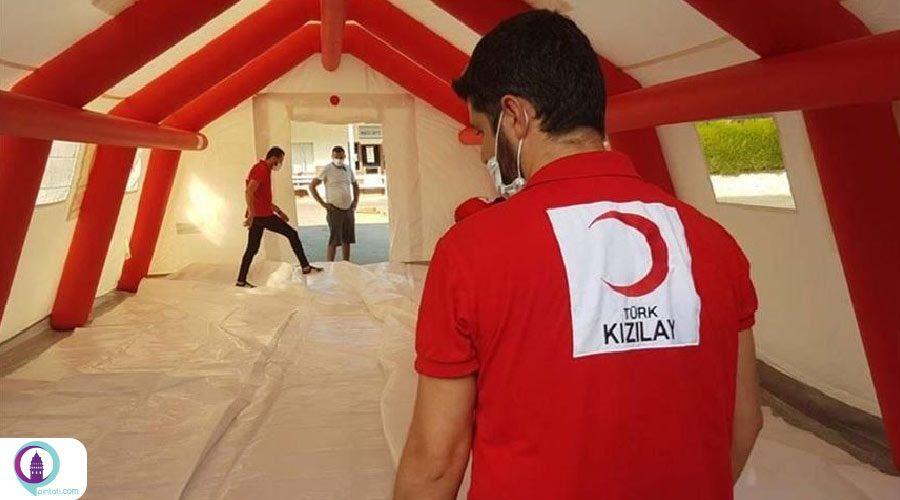 بازدید نخستوزیر جمهوری ترک قبرس شمالی از سازمان هلال احمر ترکیه