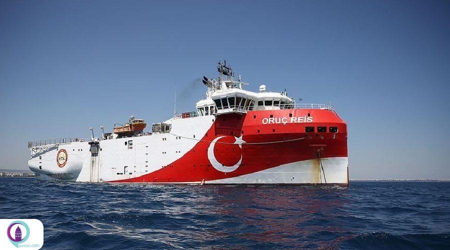 فعالیت کشتی اکتشافی ترکیه در مدیترانه شرقی تا 12 سپتامبر تمدید شد