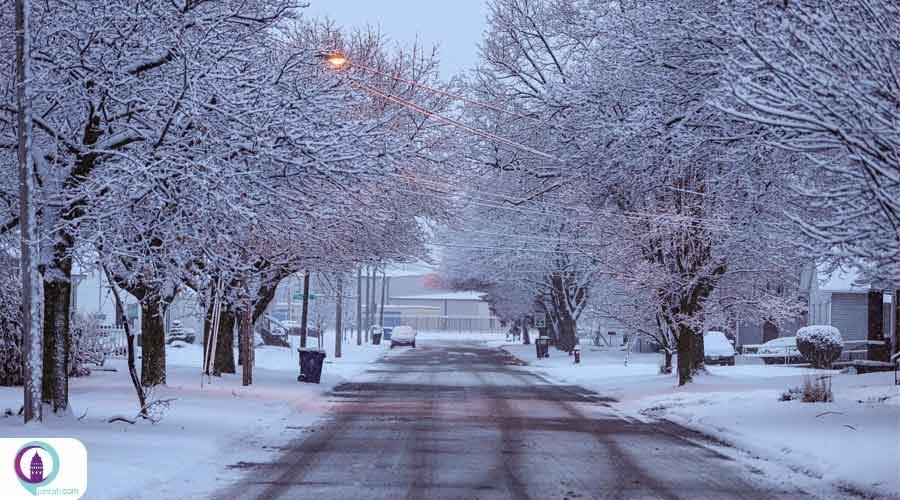 بارش شدید برف در استان قارص ترکیه
