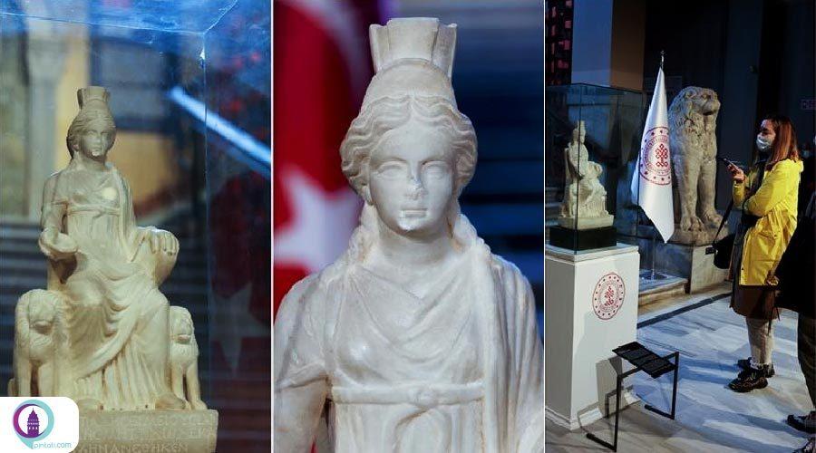 نمایش مجسمه 1700 ساله «الهه آناتولی باستان» در موزه استانبول