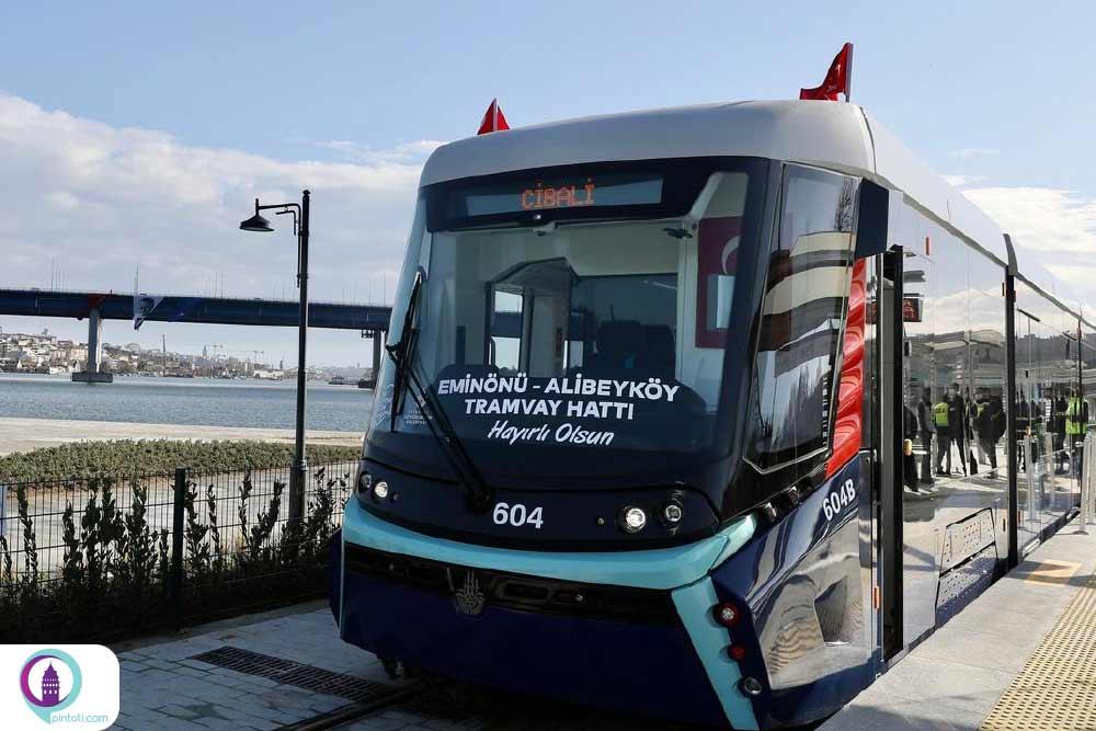افتتاح خط جدید تراموا استانبول