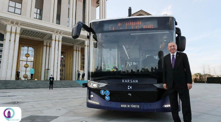 ساخت اتوبوس برقی بدون راننده توسط مهندسین ترکیه