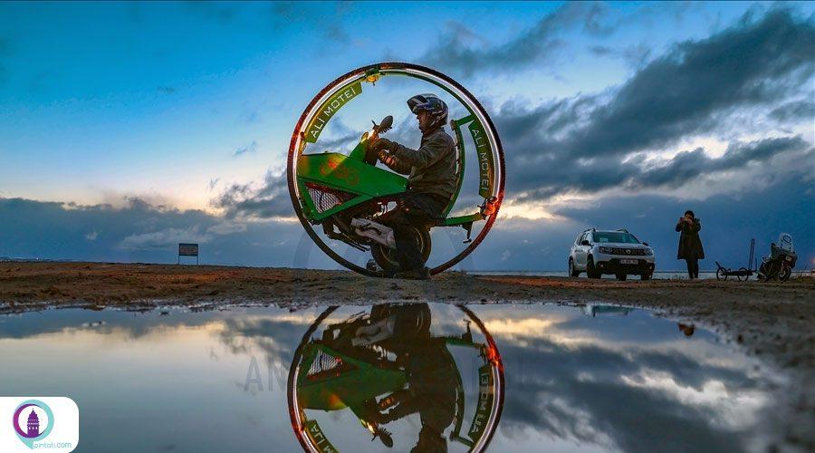ساخت تک چرخ از ضایعات موتورسیکلت توسط ایرانی مقیم ترکیه