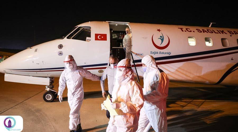 انتقال 3 شهروند ترک مبتلا به کرونا از تانزانیا به ترکیه