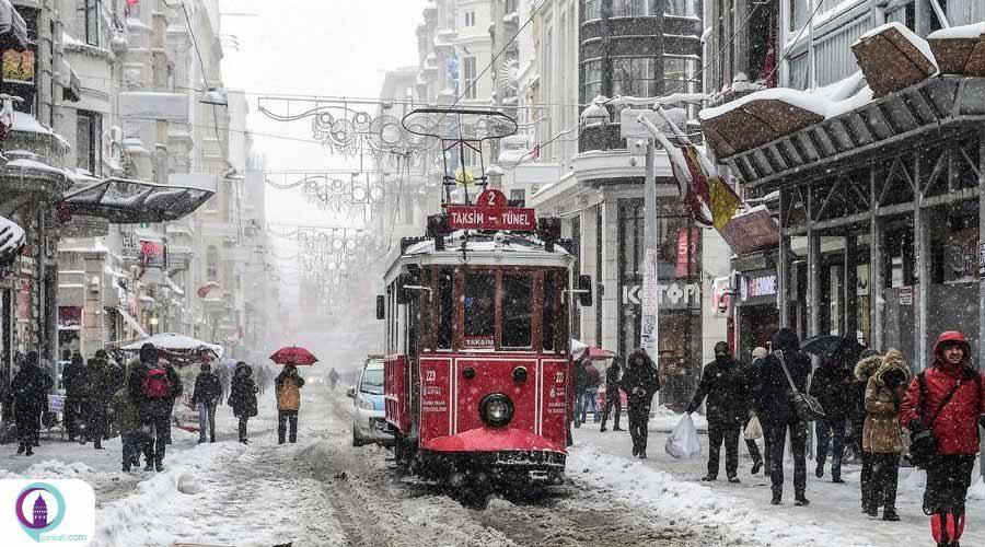 آخر هفته برفی استانبول