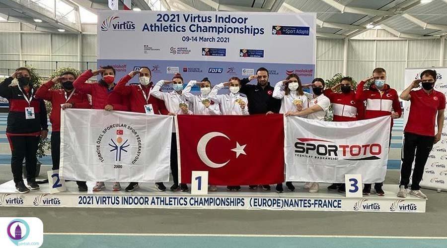 قهرمانی تیم ملی زنان معلول ترکیه در مسابقات دوومیدانی اروپا