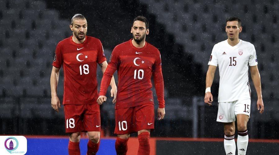 رویارویی تیم ملی فوتبال ترکیه با لتونی
