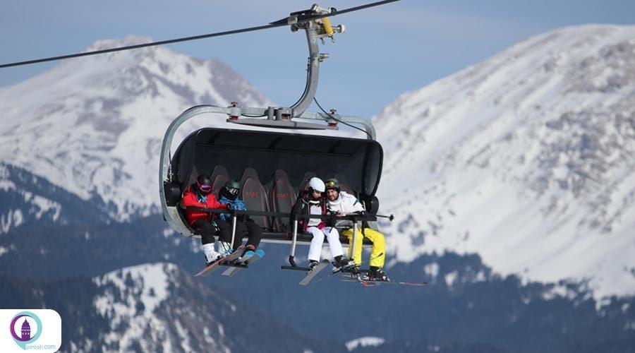 هیجان اسکی در پیست یوردونتپه کوه ایلگاز