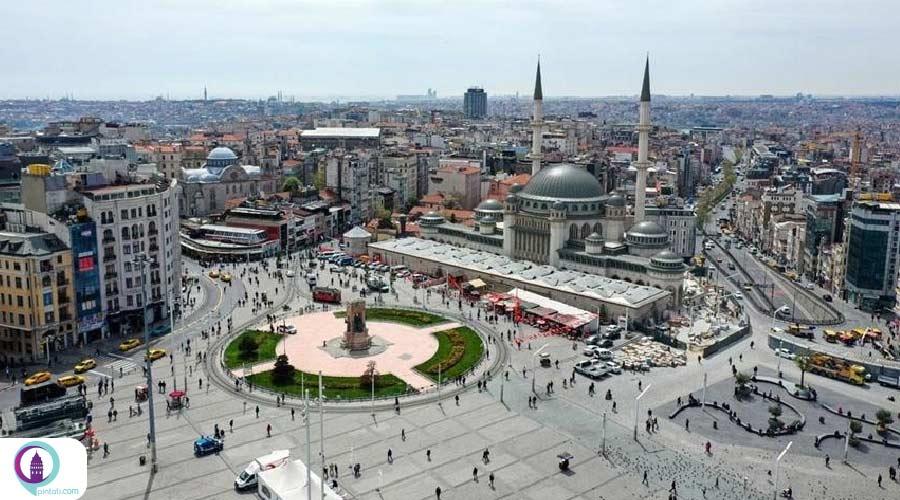 افتتاح مسجد جدید میدان تقسیم استانبول