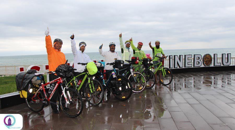 ورود دوچرخهسواران ایرانی در ادامه تور دریای سیاه خود به کاستامونوی ترکیه