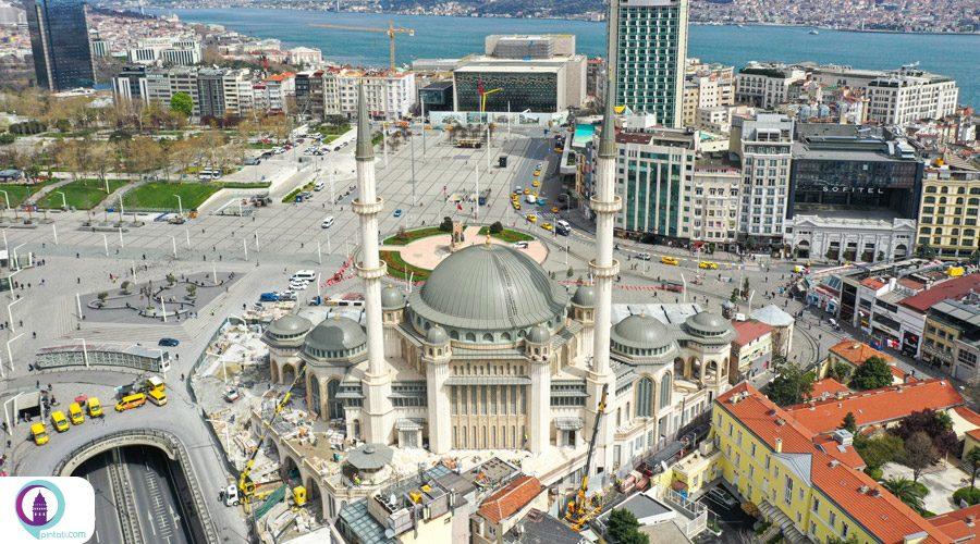 افتتاح مسجد میدان تقسیم در استانبول