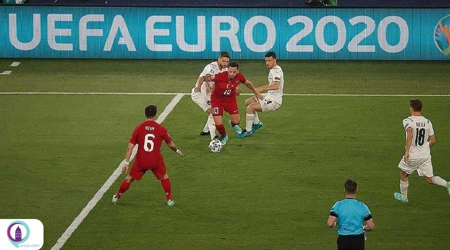 دیدار تیم فوتبال ترکیه و ایتالیا