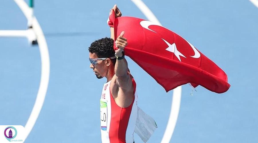 صعود دونده تیم ملی ترکیه