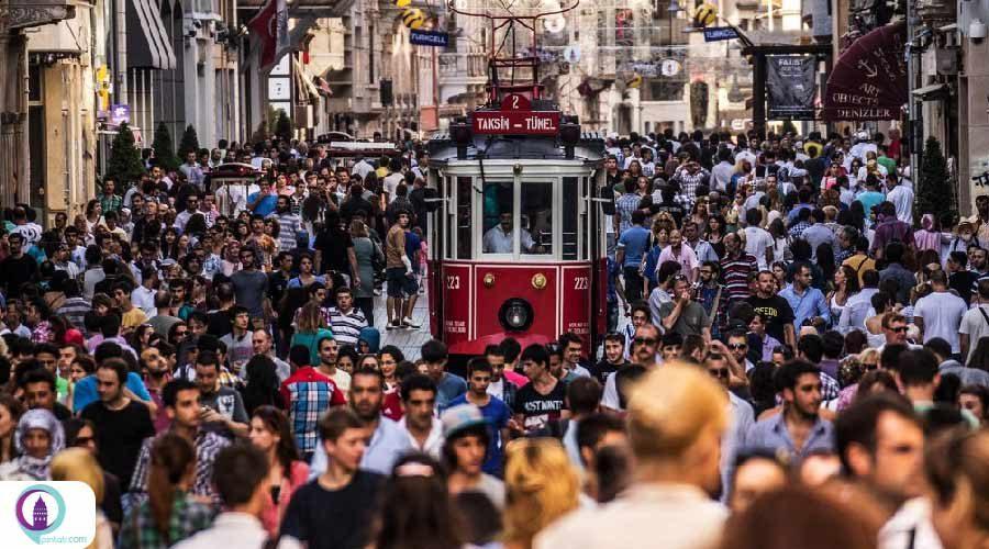 ترکیه از نظر تعداد جمعیت در بین 235 کشور در رتبه 19 قرار دارد