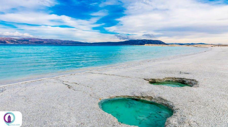جزایر سفید دریاچه سالدا (salda gölü) در ترکیه