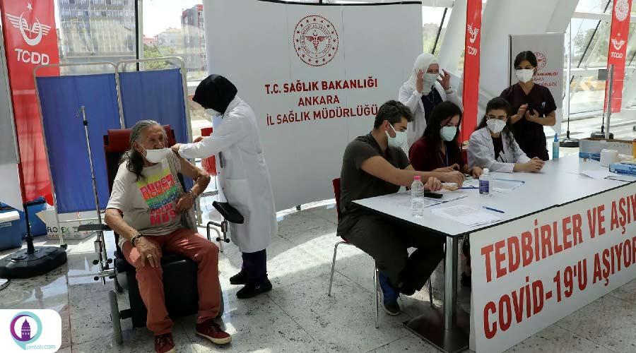 تزریق واکسن کرونا در ایستگاههای متروی استانبول