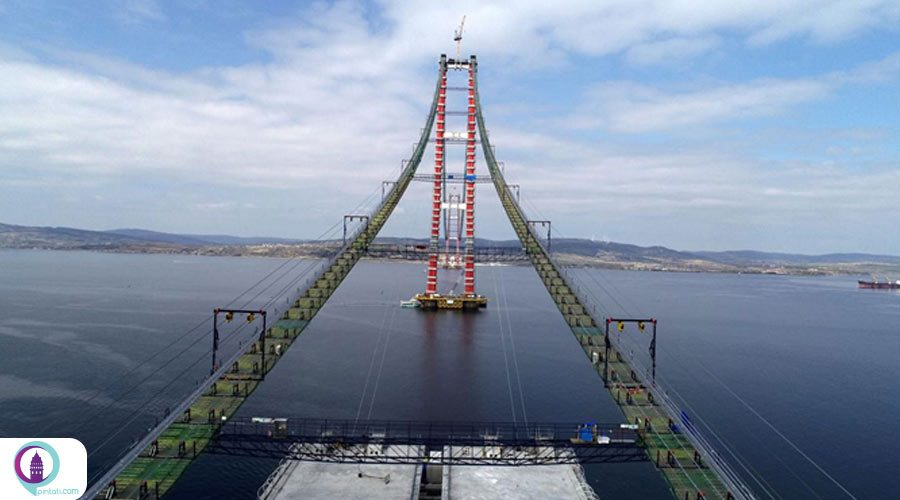 کار ساخت پل چاناکقلعه 1915 به سرعت ادامه دارد