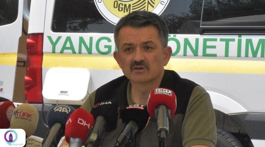 وزیر جنگلداری ترکیه: آتش سوزی در یونان بسیار جدی است