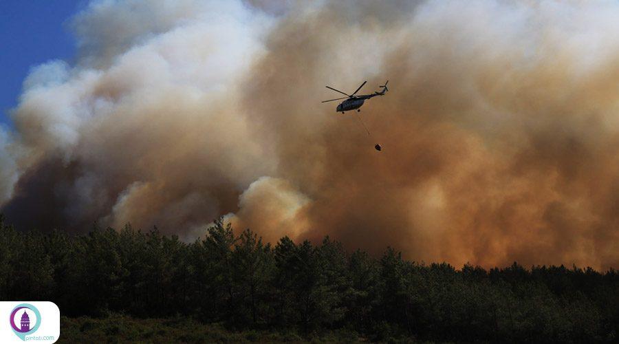 حضور پهپادهای ترکیه در مهار آتشسوزیهای جنگلی