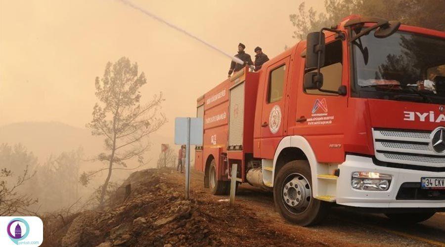 مهار آتشسوزی در دو منطقه آنتالیا